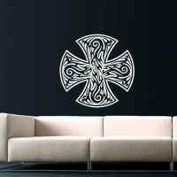 Celtic Cross Wall Decal Celtic Cross Decals by SuperVinylDecal