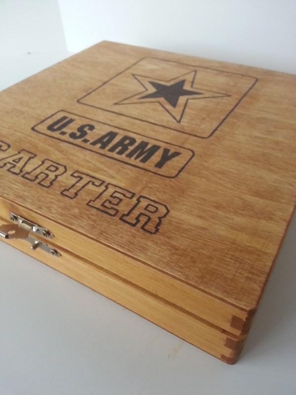 Army Military Keepsake Boxes