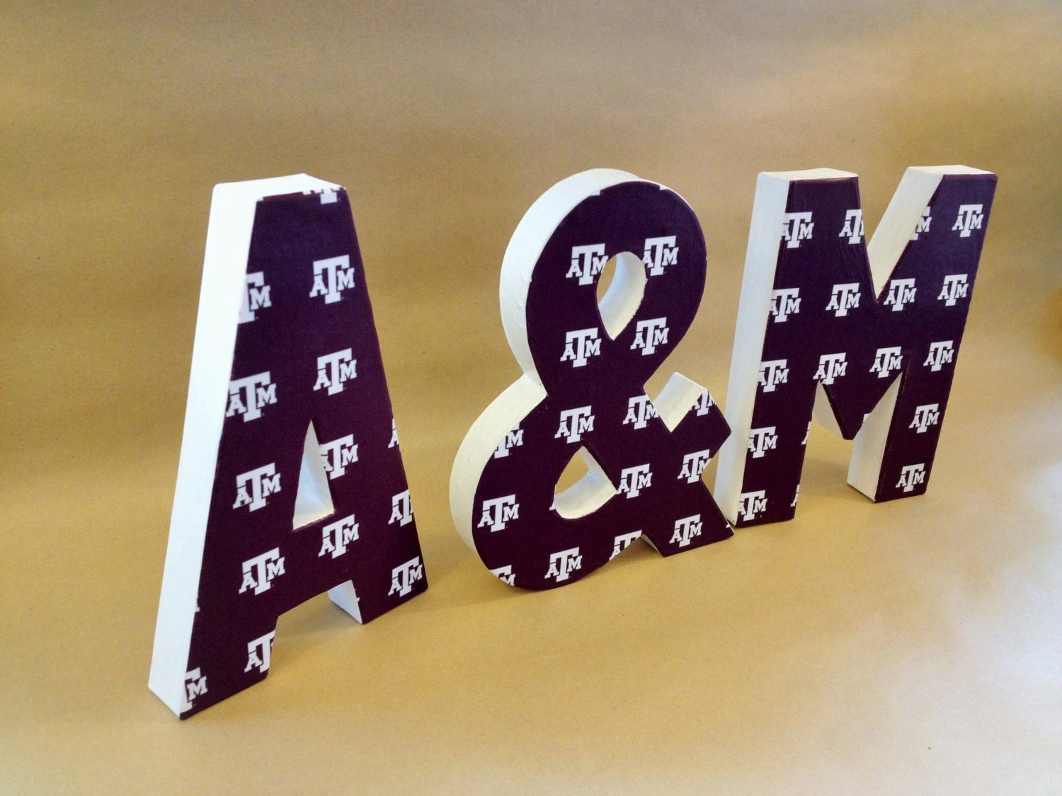 Texas A&M Letters Aggies Home Decor NCAA College