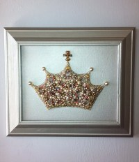 Pearl Princess Crown Wall Art/Nursery Art/Princess Art/Crown