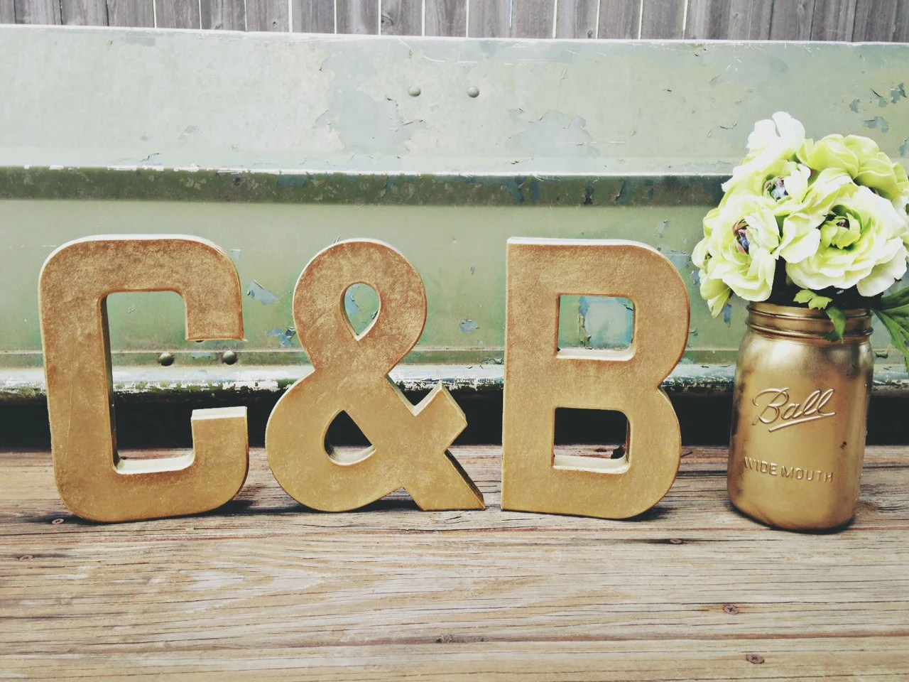 Gold Letters Set Metallic Gold Wedding Table Letters Stand