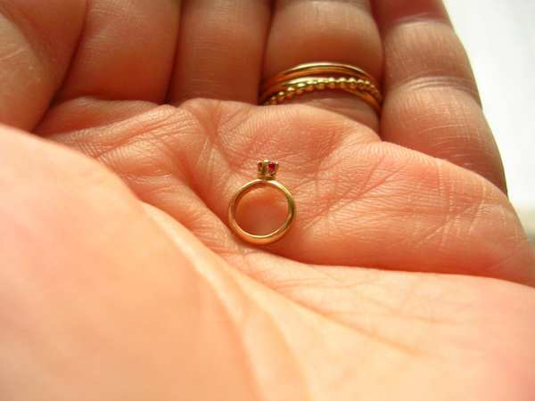 14k Gold Baby Ring Charm Mothers Grandmothers Push Present