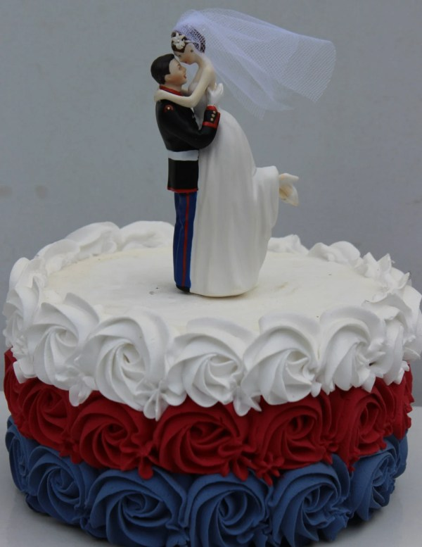 Military Usmc Marine Corps Wedding Cake Topper Bride Uniform