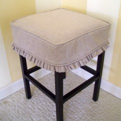 Bar Stool Chair Rung Protectors Orange Plastic Chairs Square Cover Barstool Slipcover Tan Linen Ruffled
