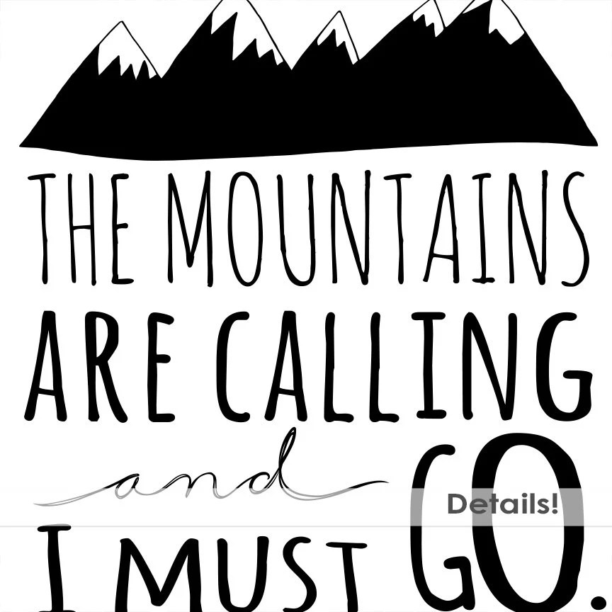 Mountain Word Art PNG & Inspirational Quote Clip Art