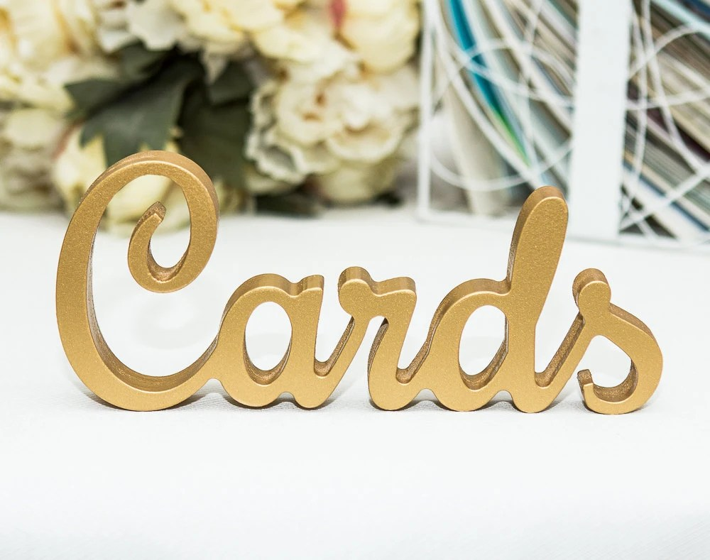 Cards Sign for Wedding Card Table Freestanding