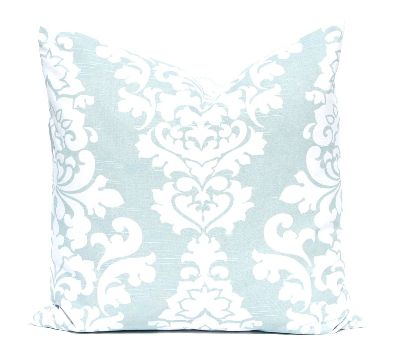 Aqua Pillows Decorative Throw Pillow Covers One Aqua Sea Foam