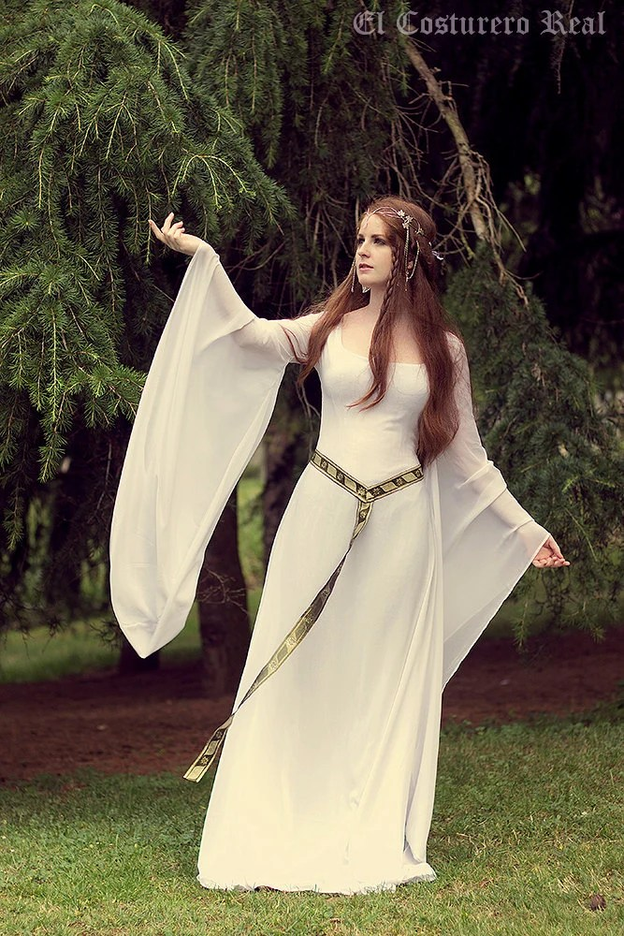 Celtic Wedding dress Galadriel Costume Elvish by CostureroReal