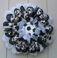 Items similar to Soccer Theme Deco Mesh and Burlap Wall