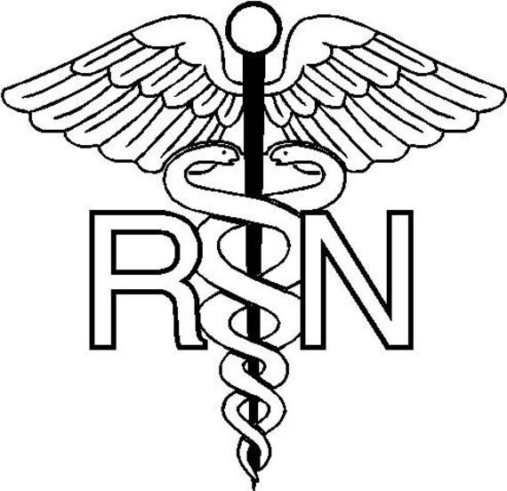 6 RN Registered Nurse Caduceus Snake medical by