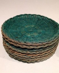 Vintage Wicker Bamboo Paper Plate Holders set of by