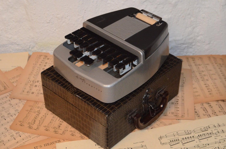 Vintage 1960s La Salle Stenotype Machine With Faux
