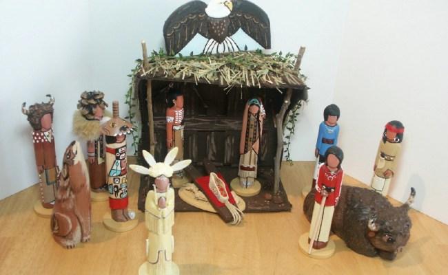 14 Pc Native American Christmas Nativity Gift Present Heirloom