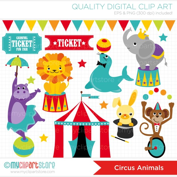 clipart circus animals carnival