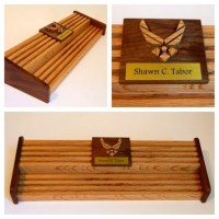Air Force 60 Challenge Coin Holder w/ Engraved Name