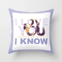 Star Wars I Love You I Know Pillow with insert Princess Leia