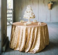 GOLD SEQUIN TABLECLOTH Table Runners by ModernCelebrations ...