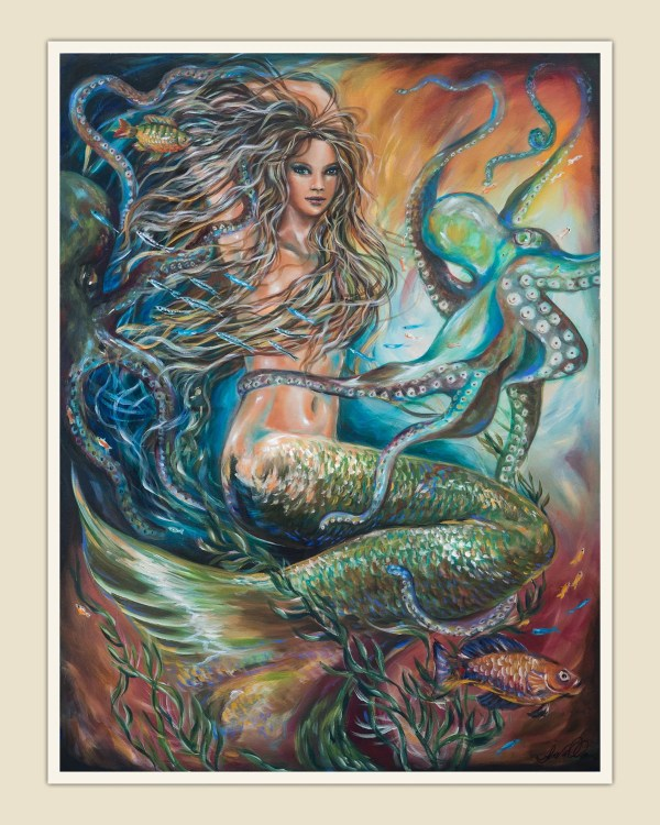 Entangled Mermaid Art