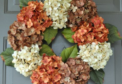 Fall Wreath Front Door Wreaths Hydrangea By Etsy