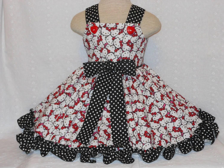 Hello Kitty Dress Girls Toddler Dress By Myprincessandherdoll
