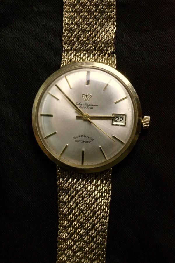 Antique 14k Gold Watch & Band Jules Jurgensen Kalektr