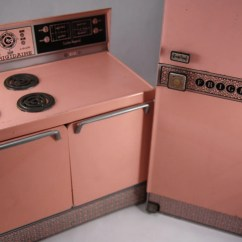 Retro Kitchen Appliances For Sale Island Portable Vintage Pink Tin Appliance Toys Frigidaire
