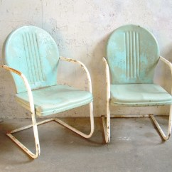 Retro Metal Patio Chairs Hanging Outdoor Uk Lawn Pair Rustic Vintage Porch Furniture