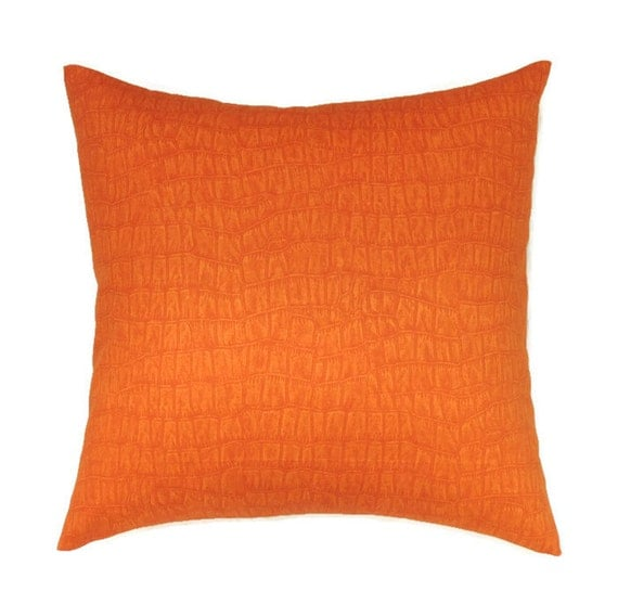 Orange Pillow Covers 20x20 Pillow Cover by ThePillowToss on Etsy