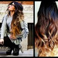 Tape in hair extensions sunrise ombre natural human hair natural