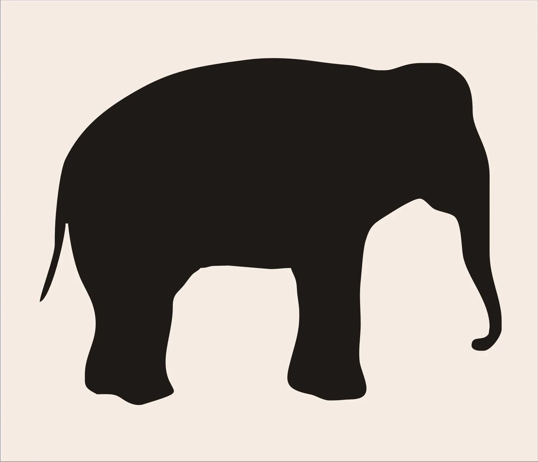 Elephant Reusable Stencil 3 8 Sizes Available Create