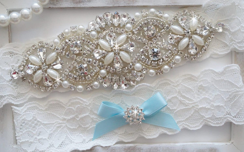 Wedding Garter Set Bridal Garter Set Vintage Wedding Pearl