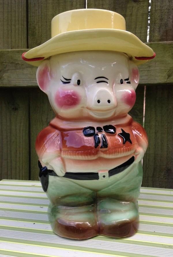 Vintage Sheriff Pig Cookie Jar