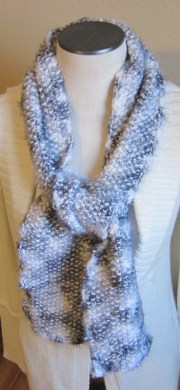 knitted scarf with soft angel