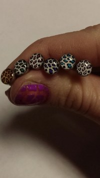Items similar to cheetah animal print 14g tongue ring ...