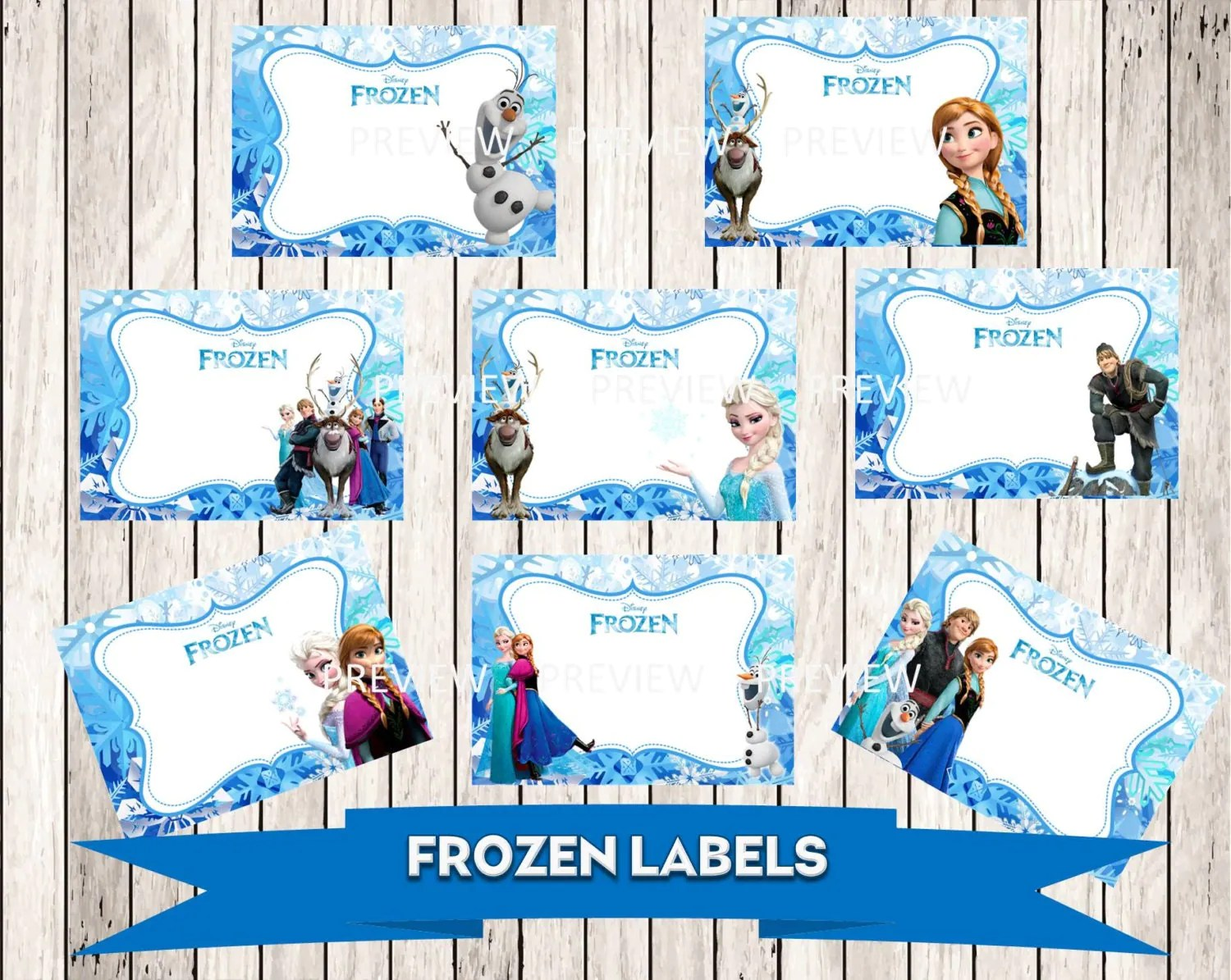 Frozen Printable Food Labels That Are Persnickety
