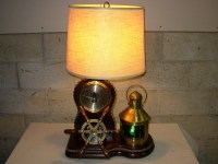 Vintage Nautical Barometer Lamp With A by SeaMyNauticalVintage