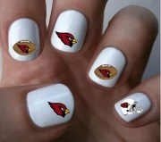 arizona cardinals nfl nail art