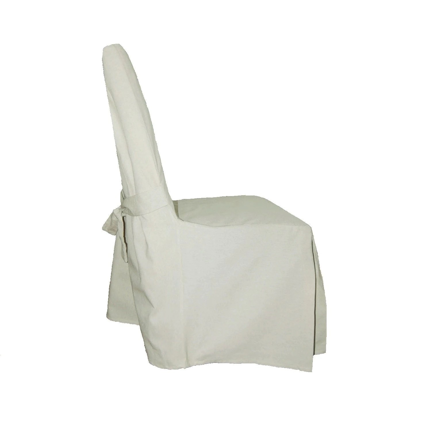 chair covers white linen felt pads for chairs off cotton dining slipcover free shipping