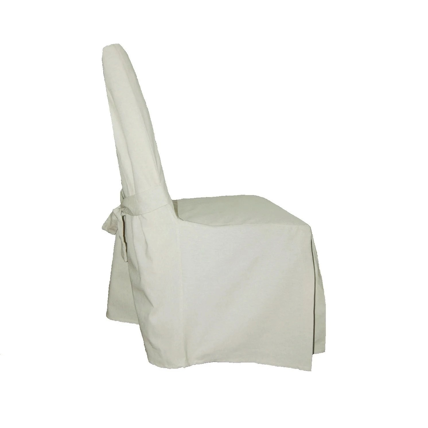 White Chair Slipcover Off White Cotton Linen Dining Chair Slipcover Free Shipping