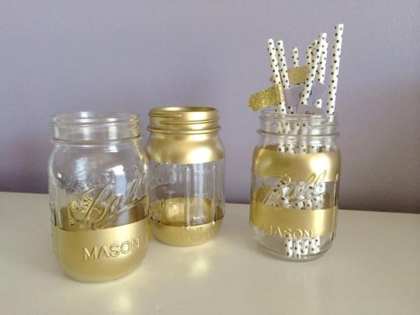 Gold Mason Jars Bar Cart Accessories Madeintheshadeshop