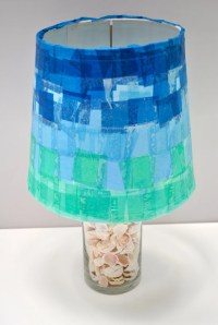 Items similar to Handmade Tissue Paper Mache Lamp Shade 9 ...