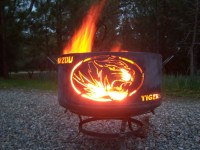 Mizzou Tigers fire pit large. Made from salvaged steel.