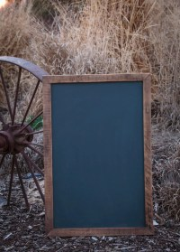 Large Chalkboard Sign Rustic Framed Chalkboard Reclaimed