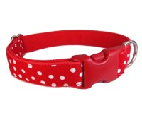 Custom Dog Collars Cute Dog Collar Red Dog Collar Polka