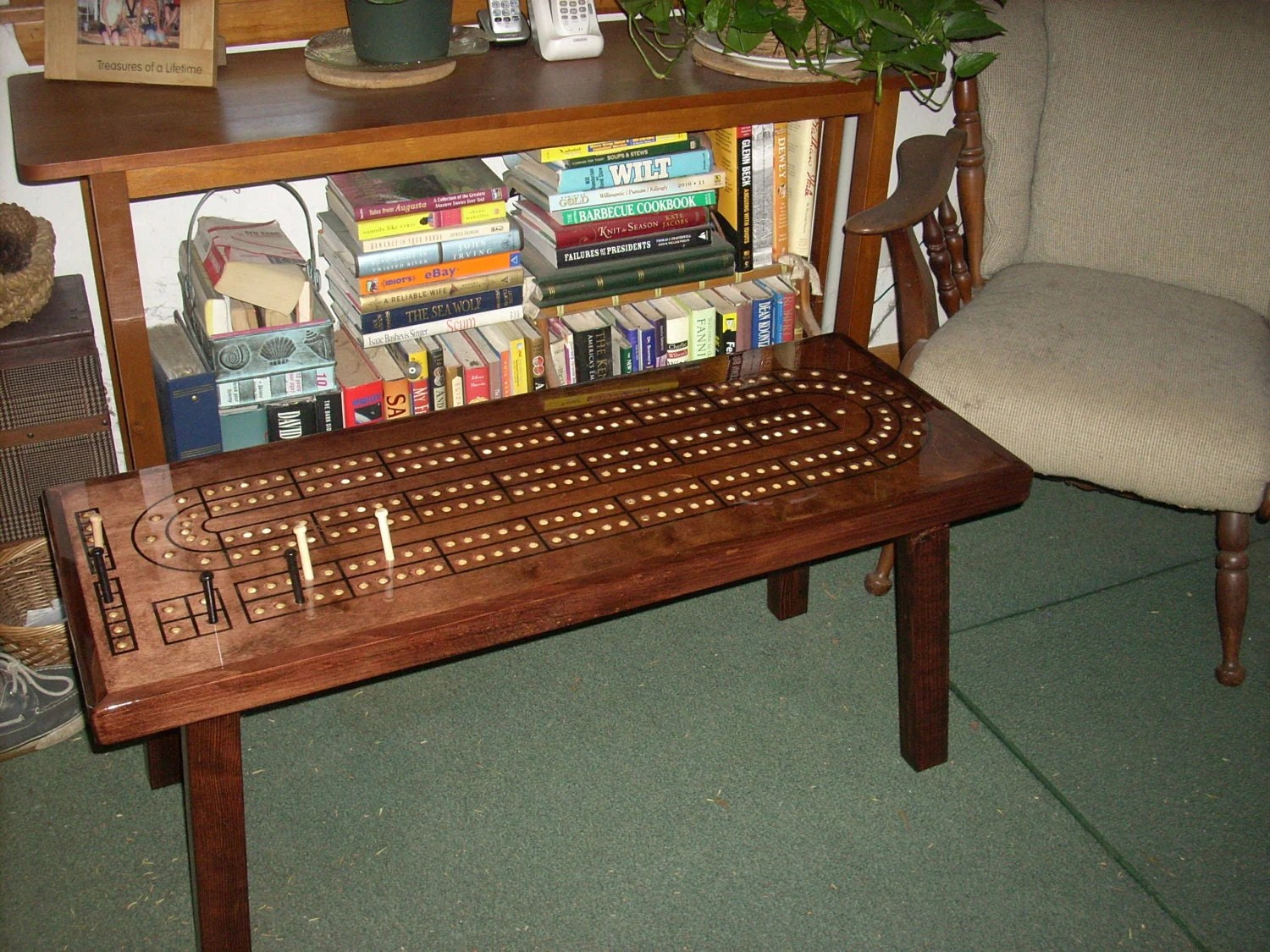 Cribbage Table Cribbage Board Coffee Table Mahogany Minwax