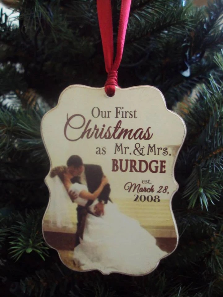 Our First Christmas Ornament Married Wedding Gift First