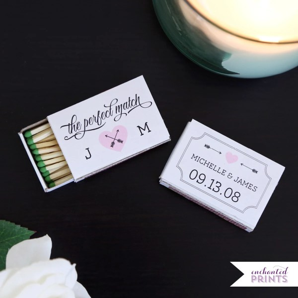 Perfect Match Personalized Matchbox Covers-wedding Favor