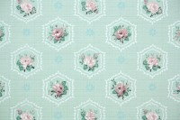 1930's Vintage Wallpaper Floral Wallpaper with Pink