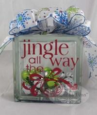 Jingle all the Way Decorative Glass Block