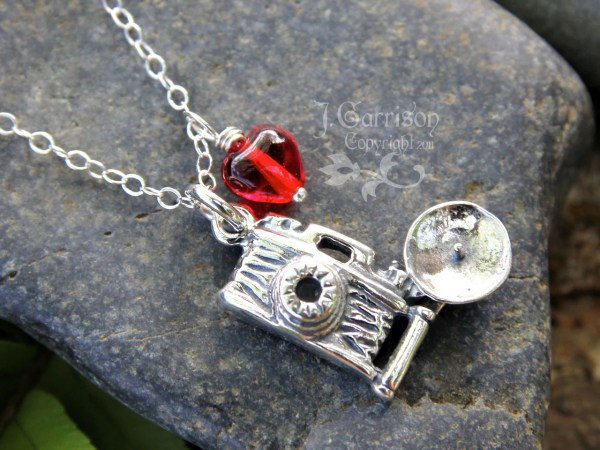 Love Necklace Sterling Silver Flash Camera Charm